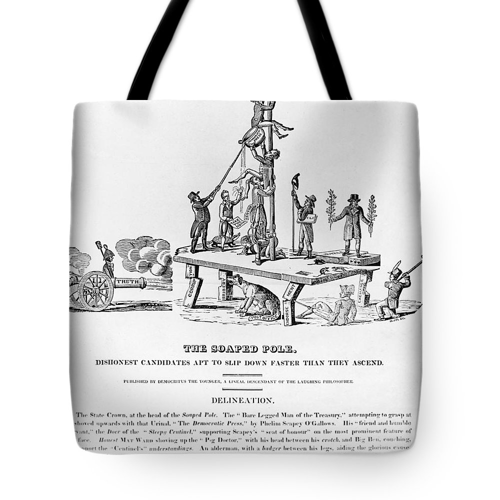 1817 Tote Bag featuring the photograph Anti-democrat Cartoon by Granger