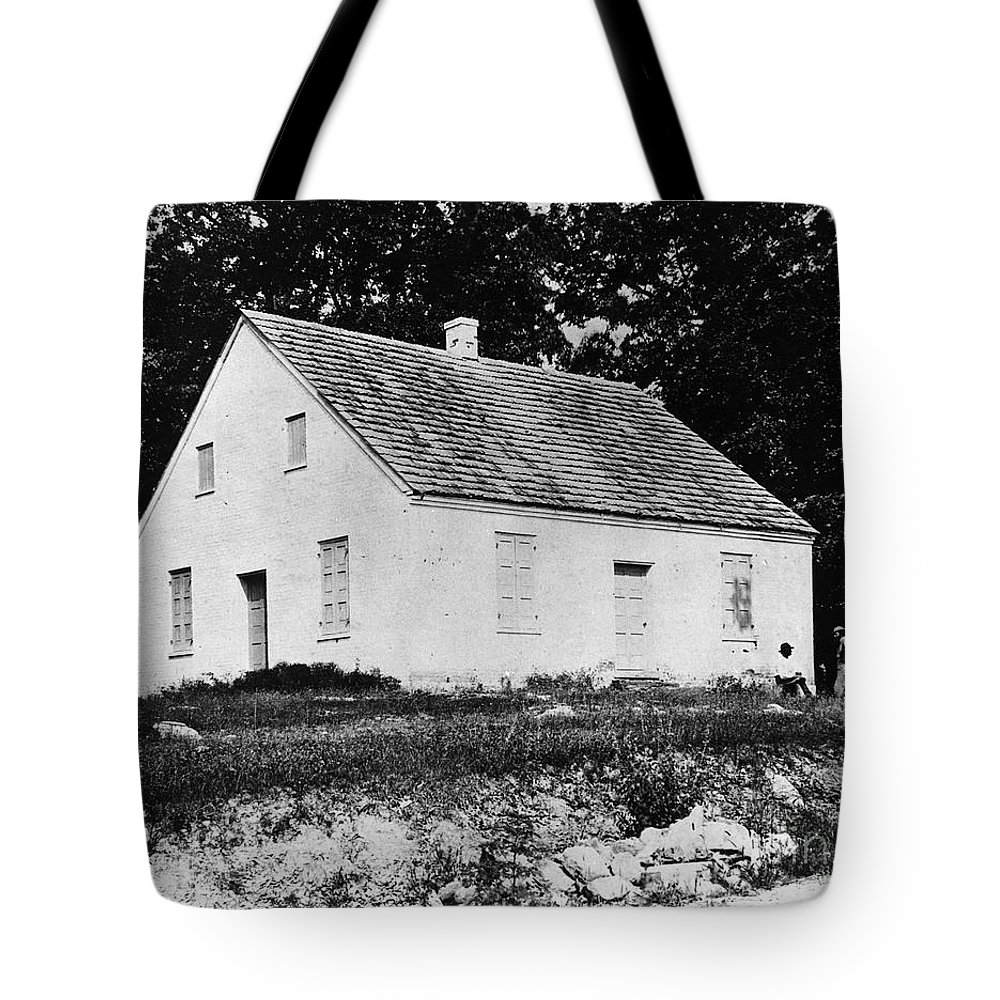 1862 Tote Bag featuring the photograph Antietam: Dunker Church by Granger