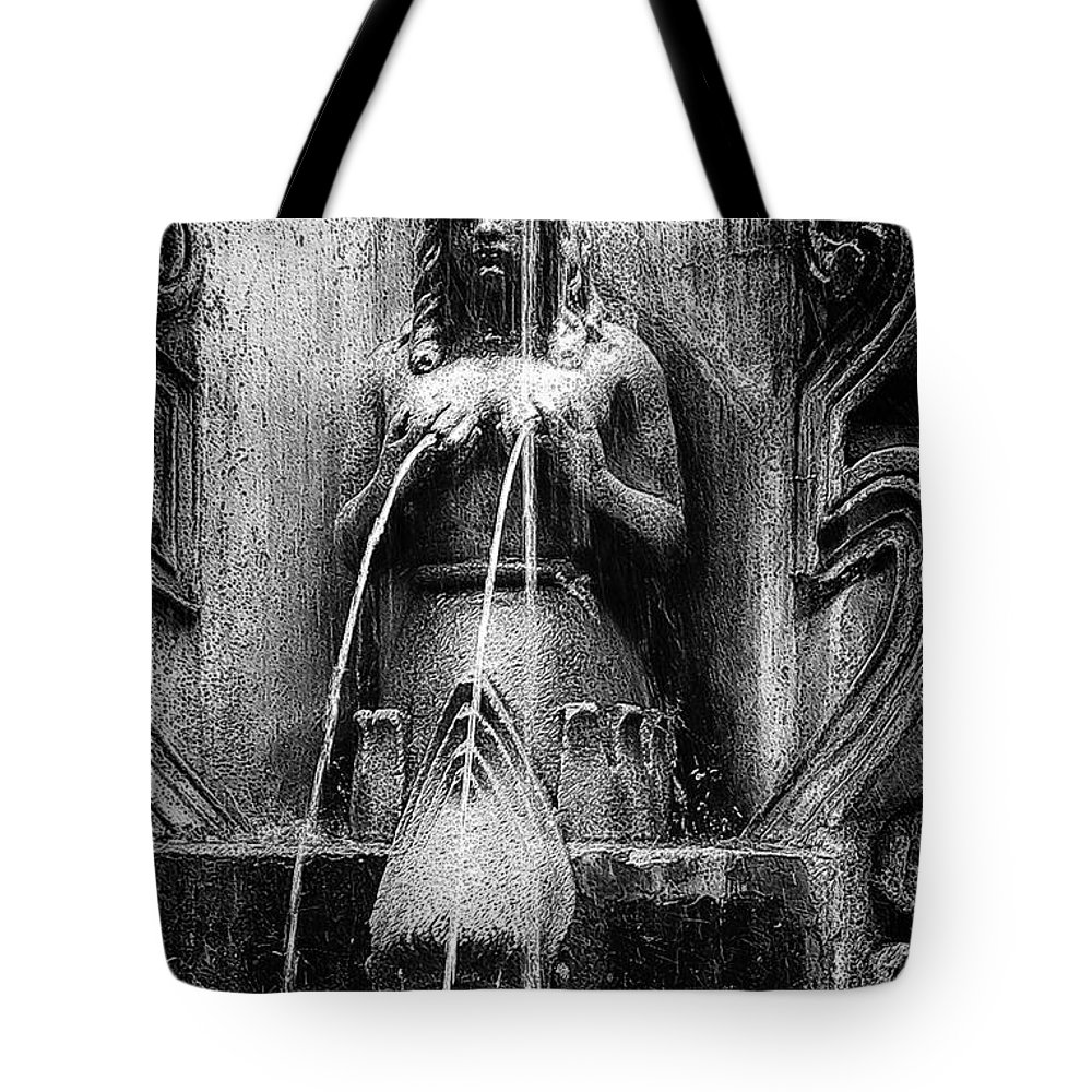 Mermaid Tote Bag featuring the photograph Antigua Mermaid by Tom Bell