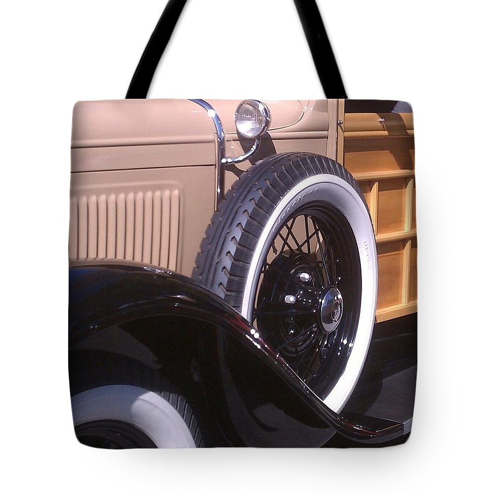 Classic Tote Bag featuring the photograph Antique Classic Vintage Car by Sven Migot