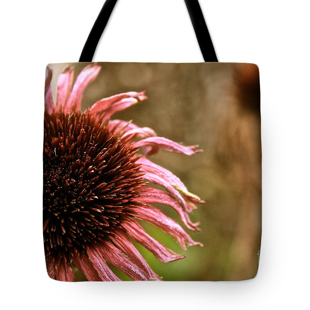 Flower Tote Bag featuring the photograph Antique Cone Flower by Susan Herber