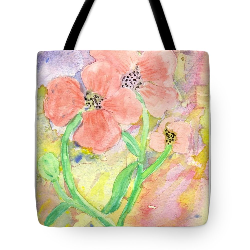Flowers Tote Bag featuring the painting Antique Flowers by Diane Maley