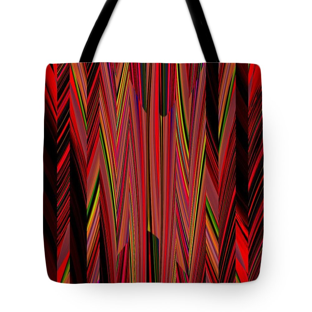 Abstract Tote Bag featuring the digital art Any Way You Slice It 3 by Tim Allen