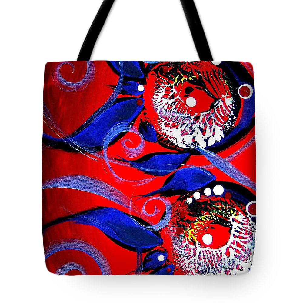 Fish Tote Bag featuring the painting Anything Fish 1 by J Vincent Scarpace