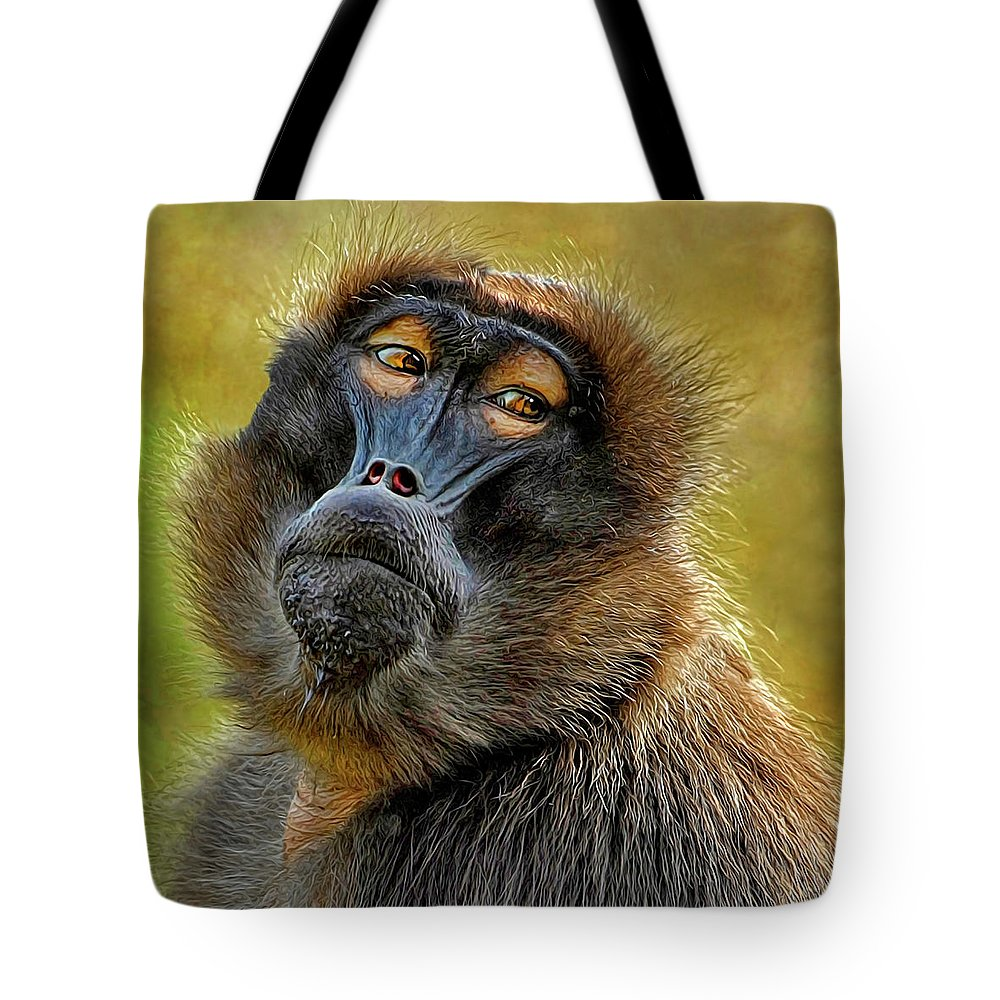 Ape Tote Bag featuring the photograph Ape by Dave Mills