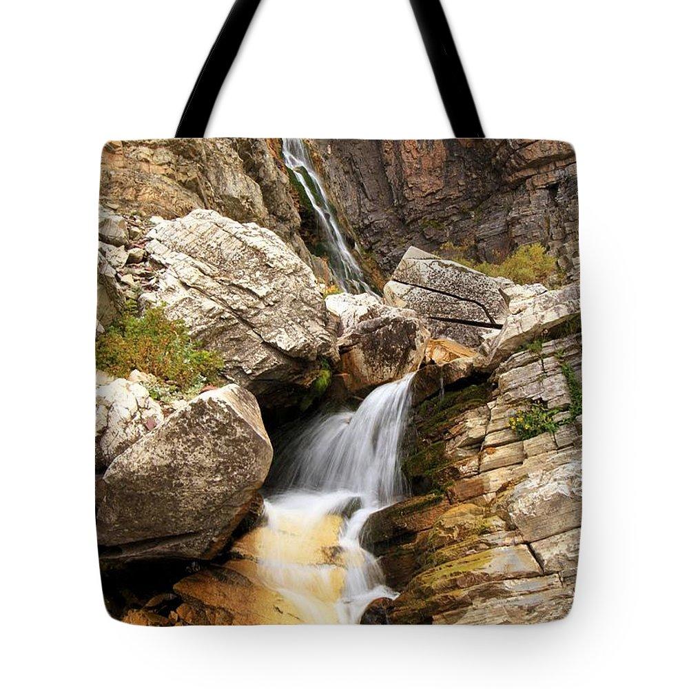 Apikuni Waterfall Tote Bag featuring the photograph Apikuni Waterfall by Adam Jewell