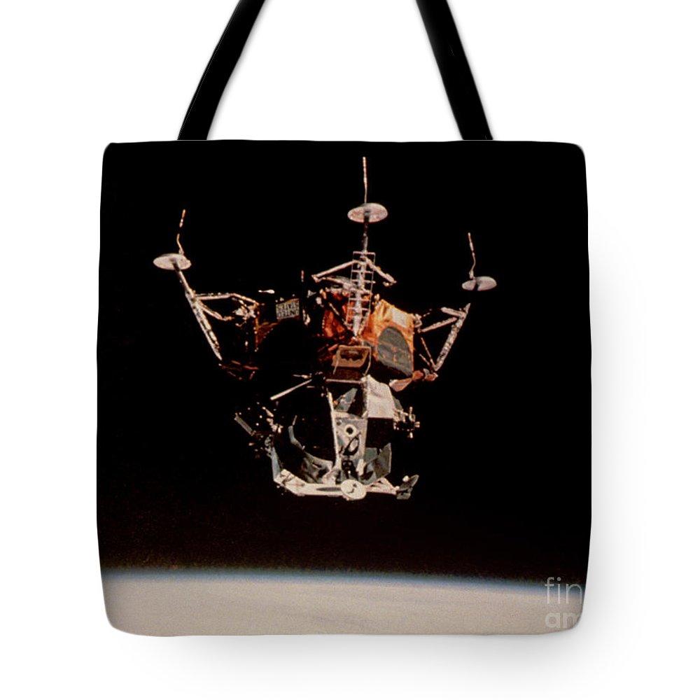 Apollo Tote Bag featuring the photograph Apollo 9 Lunar Module by Nasa