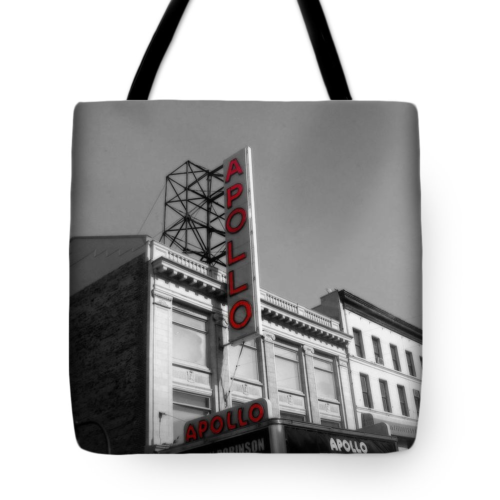 Apollo Theater Photographs Tote Bag featuring the photograph Apollo Theater In Harlem New York No.2 by Ms Judi