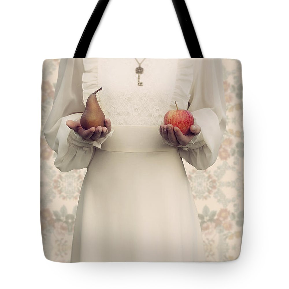 Woman Tote Bag featuring the photograph Apple And Pear by Joana Kruse