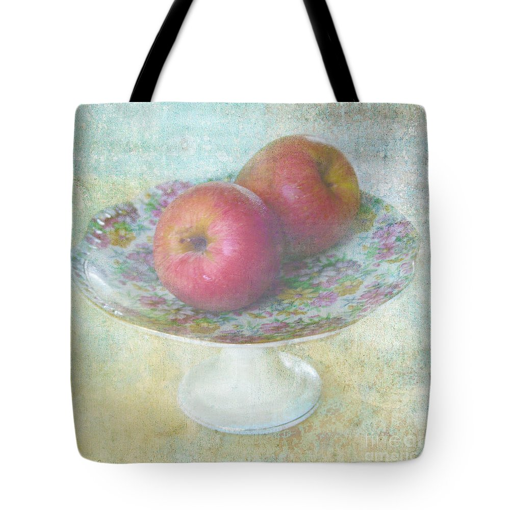 Vintage Tote Bag featuring the photograph Apples Still Life Print by Svetlana Novikova
