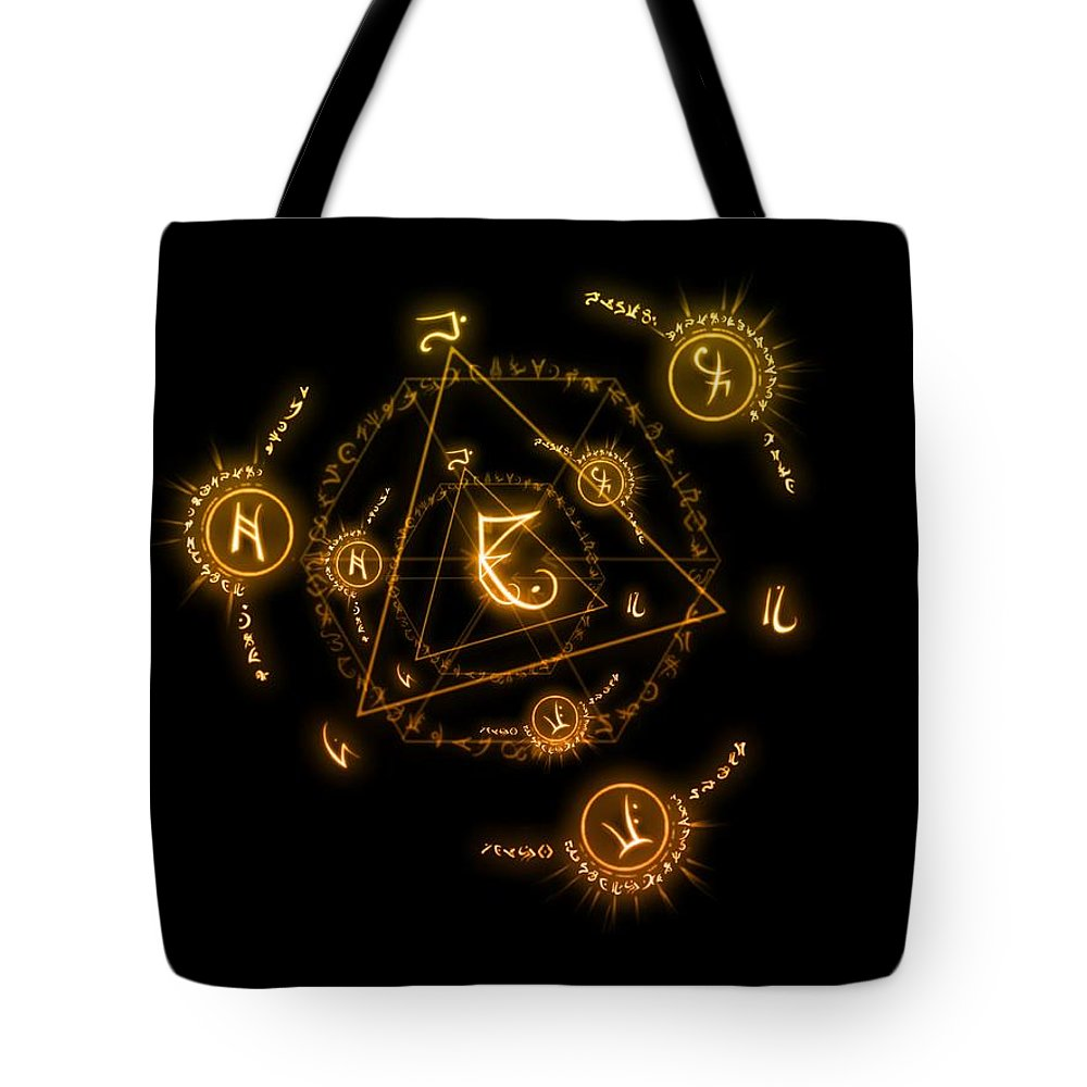 Arcane Greeting Cards Tote Bag featuring the digital art Arcane by Ester Rogers