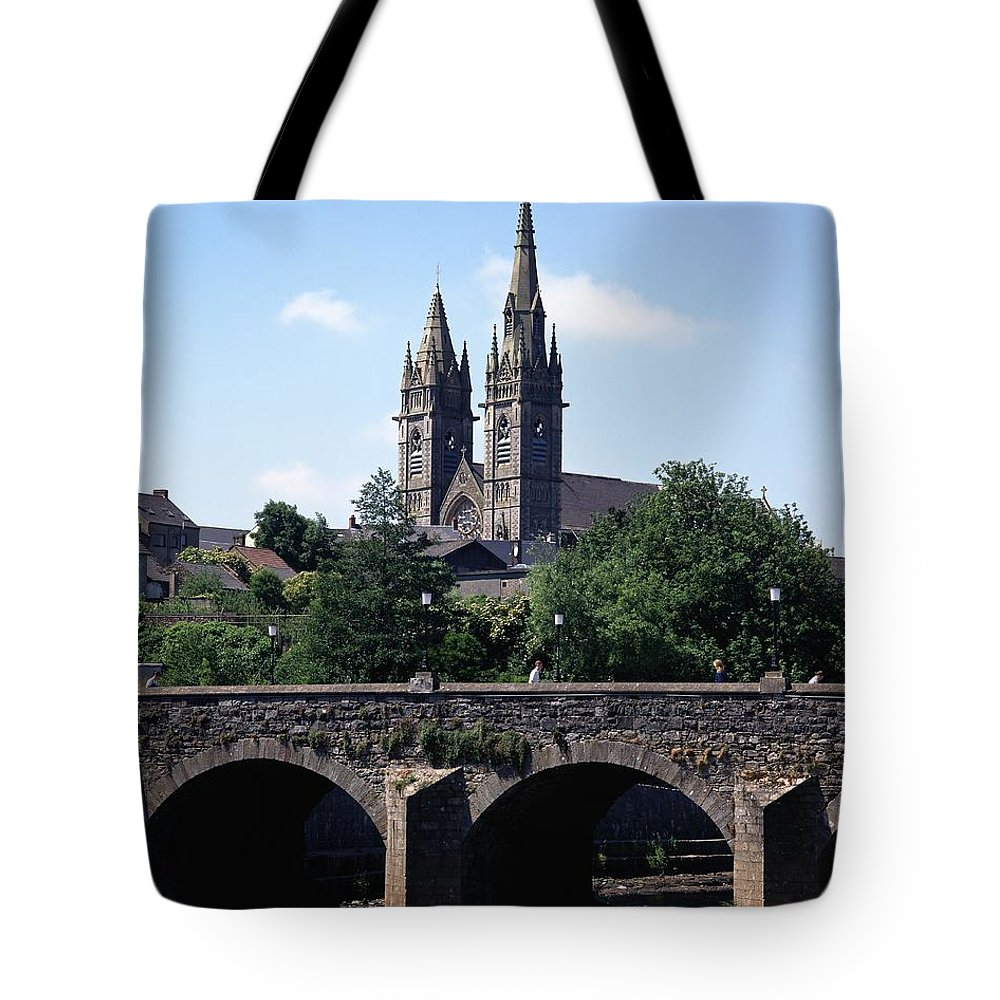 Arch Bridge Tote Bag featuring the photograph Arch Bridge Across A River With A by The Irish Image Collection