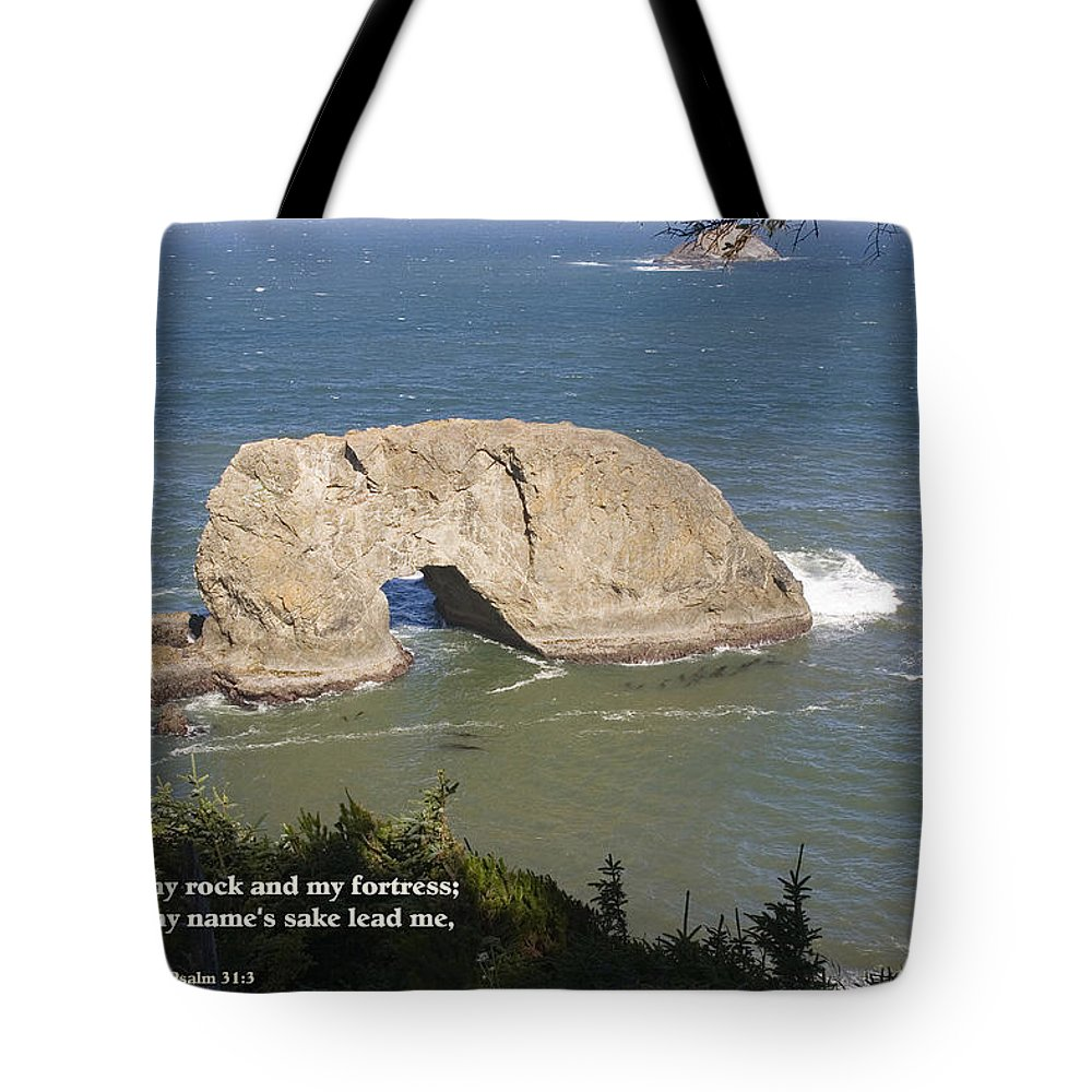 Northwest Inspirationals Tote Bag featuring the photograph Arch Rock by Mick Anderson