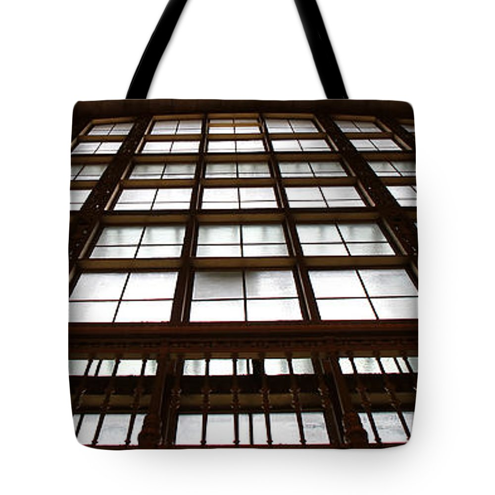 Window Tote Bag featuring the photograph Arched Window by Andrew Fare