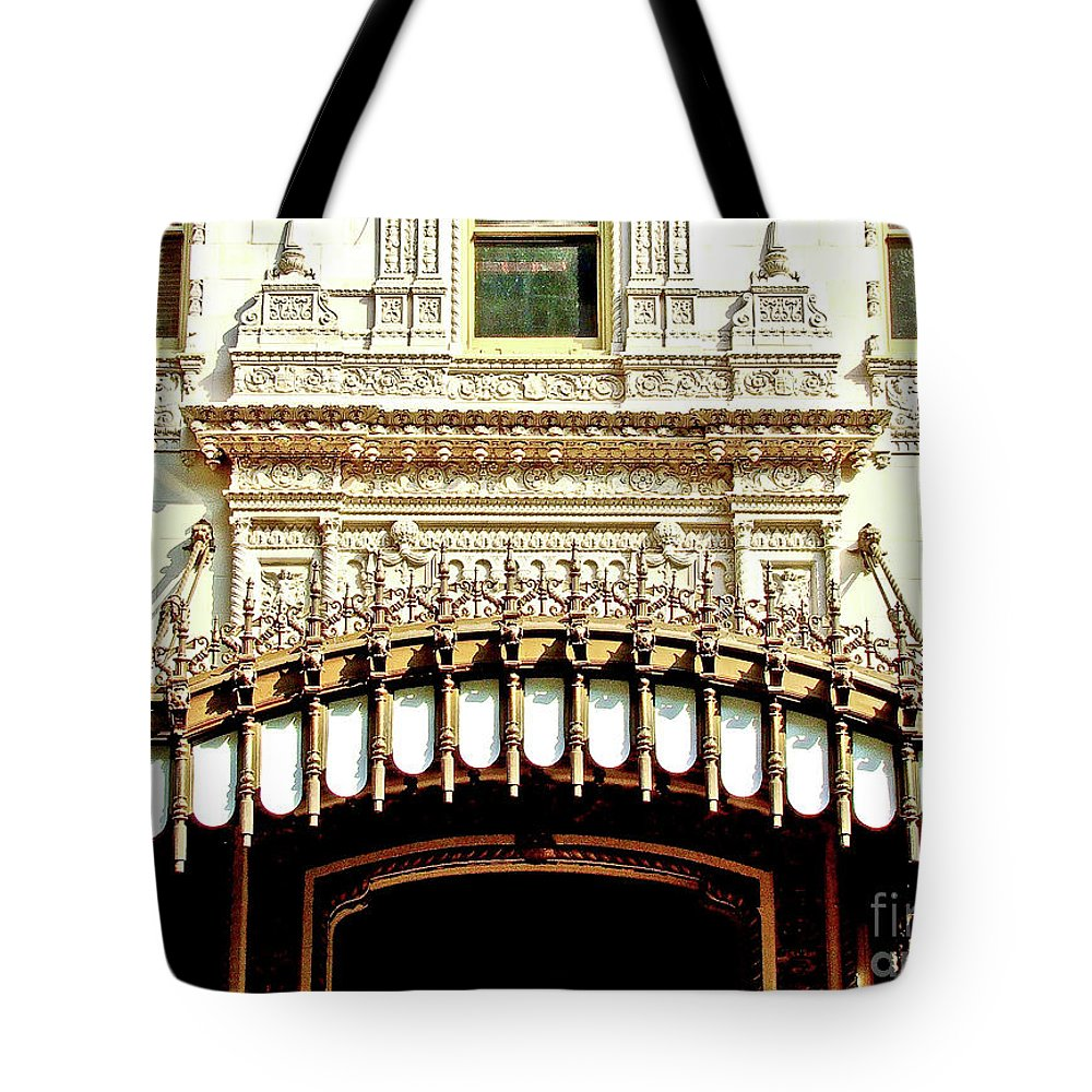 Architecture Tote Bag featuring the photograph Architectural Detail New Orleans by Frances Hattier