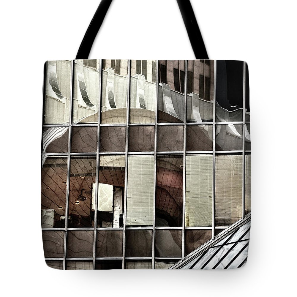 Houston Tote Bag featuring the photograph Architectural Reflections by Frances Hattier