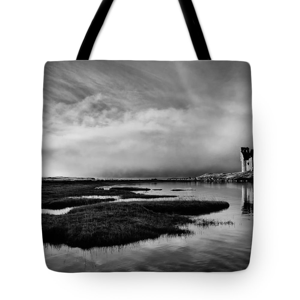 Ancient Tote Bag featuring the photograph Ardvreck Out Of The Mist by Derek Beattie