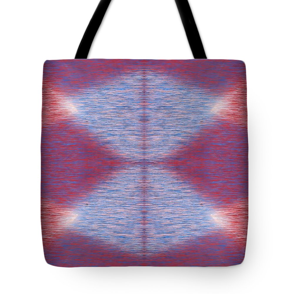 Abstract Tote Bag featuring the digital art Argyle Seam 1 by Tim Allen