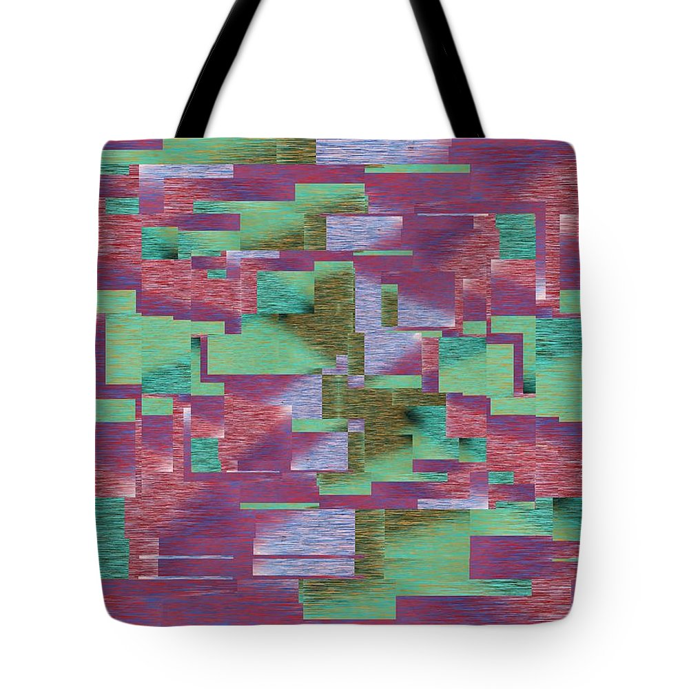 Abstract Tote Bag featuring the digital art Argyle Seam 4 by Tim Allen