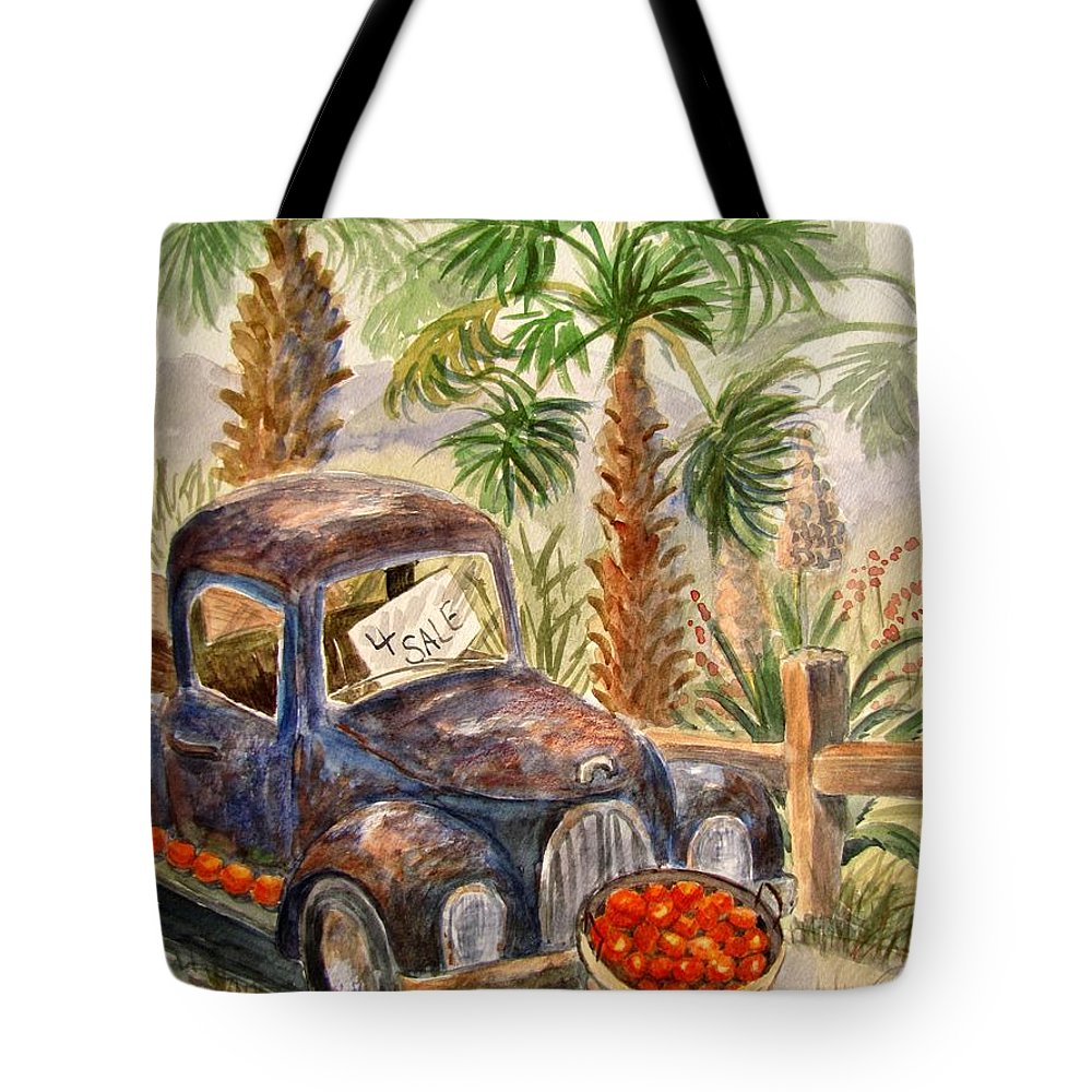 Old Truck Tote Bag featuring the painting Arizona Sweets by Marilyn Smith