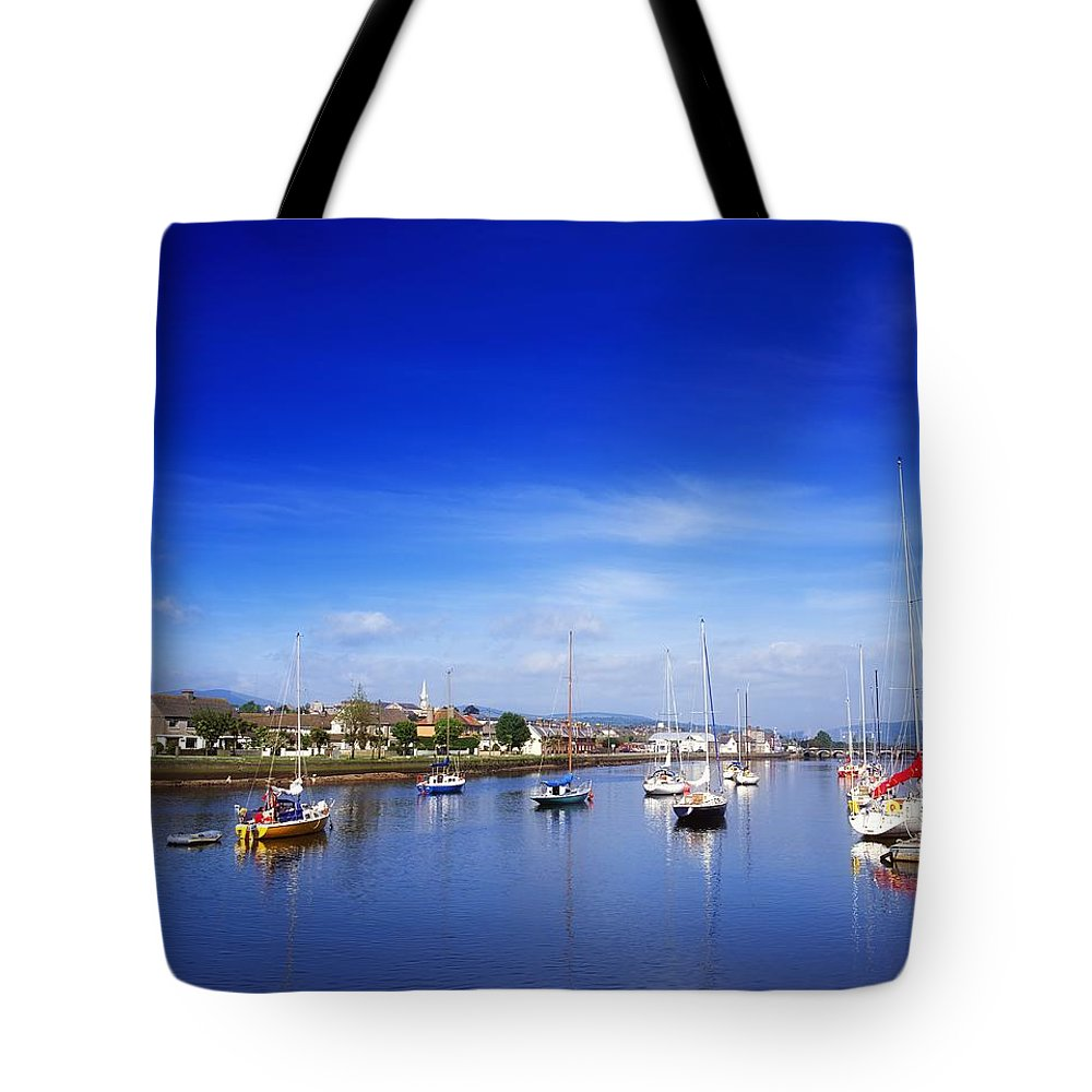 Arklow Harbour Tote Bag featuring the photograph Arklow, River Avoca, County Wicklow by The Irish Image Collection