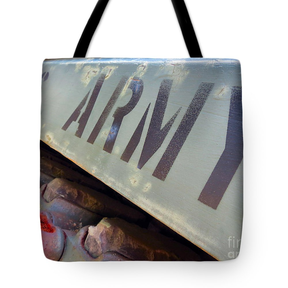 United Tote Bag featuring the photograph Army by Art Dingo