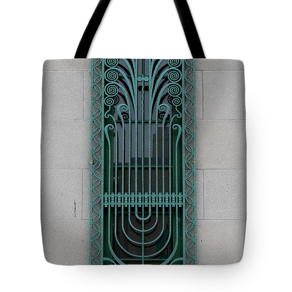 Art Deco Window Tote Bag featuring the photograph Art Deco 11 by Andrew Fare