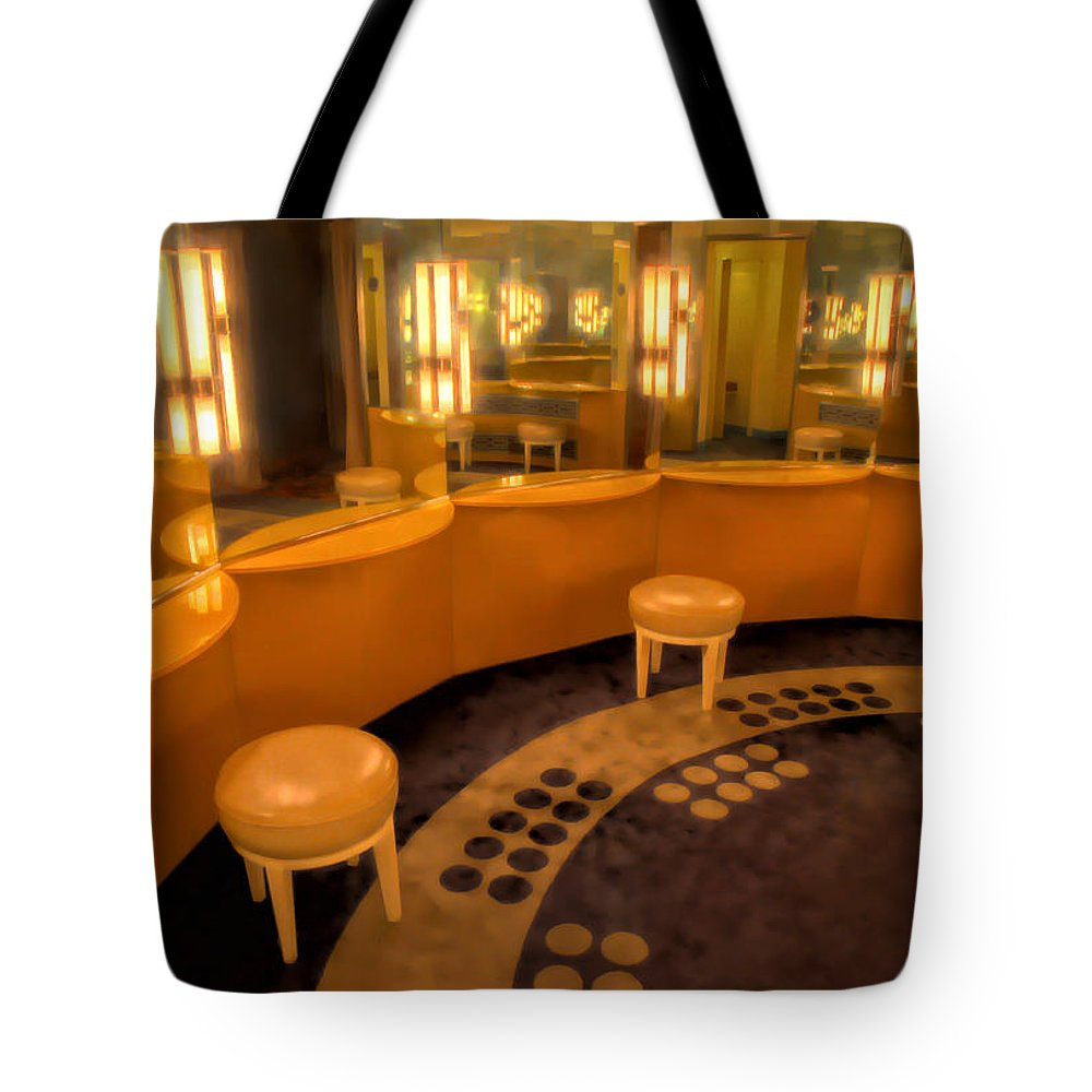 Art Deco Tote Bag featuring the photograph Art Deco Powder Room by Dave Mills