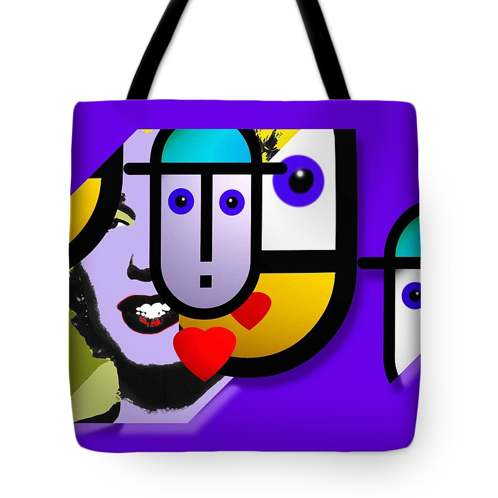 Marilyn Tote Bag featuring the painting Art Lover by Charles Stuart