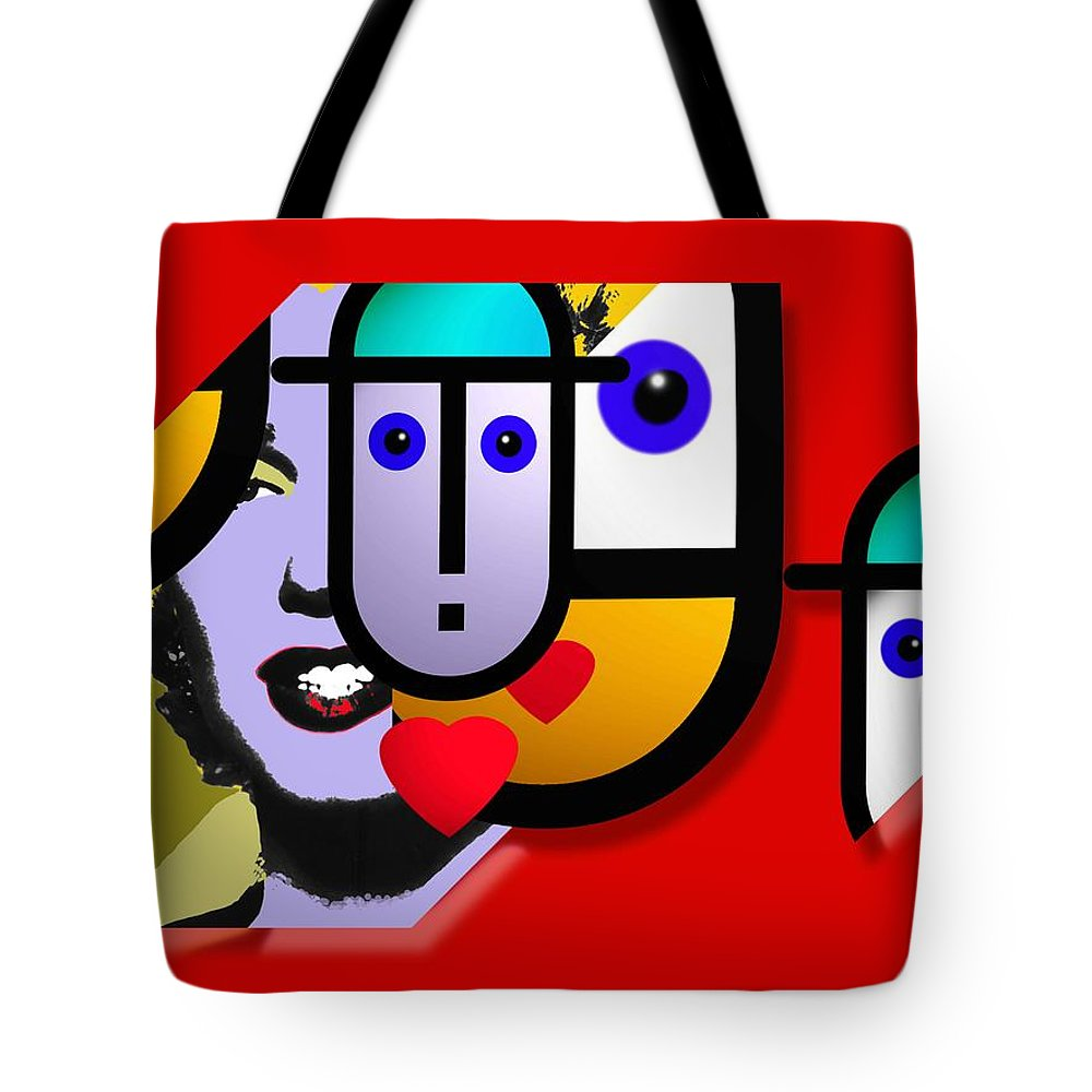 Marilyn Tote Bag featuring the painting Art Lover Revisited by Charles Stuart