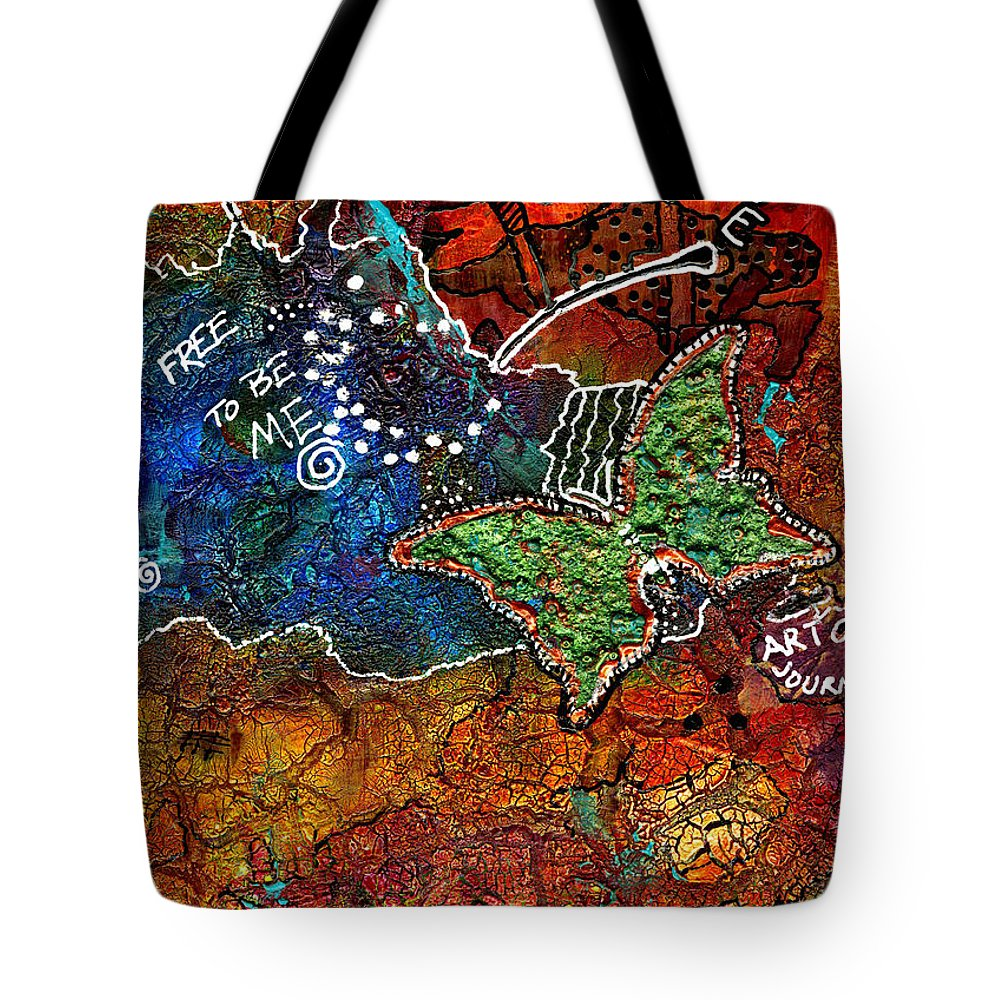 Journal Art Tote Bag featuring the mixed media Art Therapy by Angela L Walker