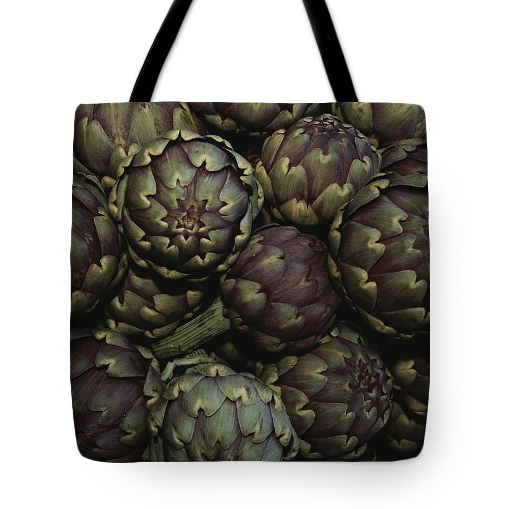 Europe Tote Bag featuring the photograph Artichokes At A Market In Provence by Nicole Duplaix