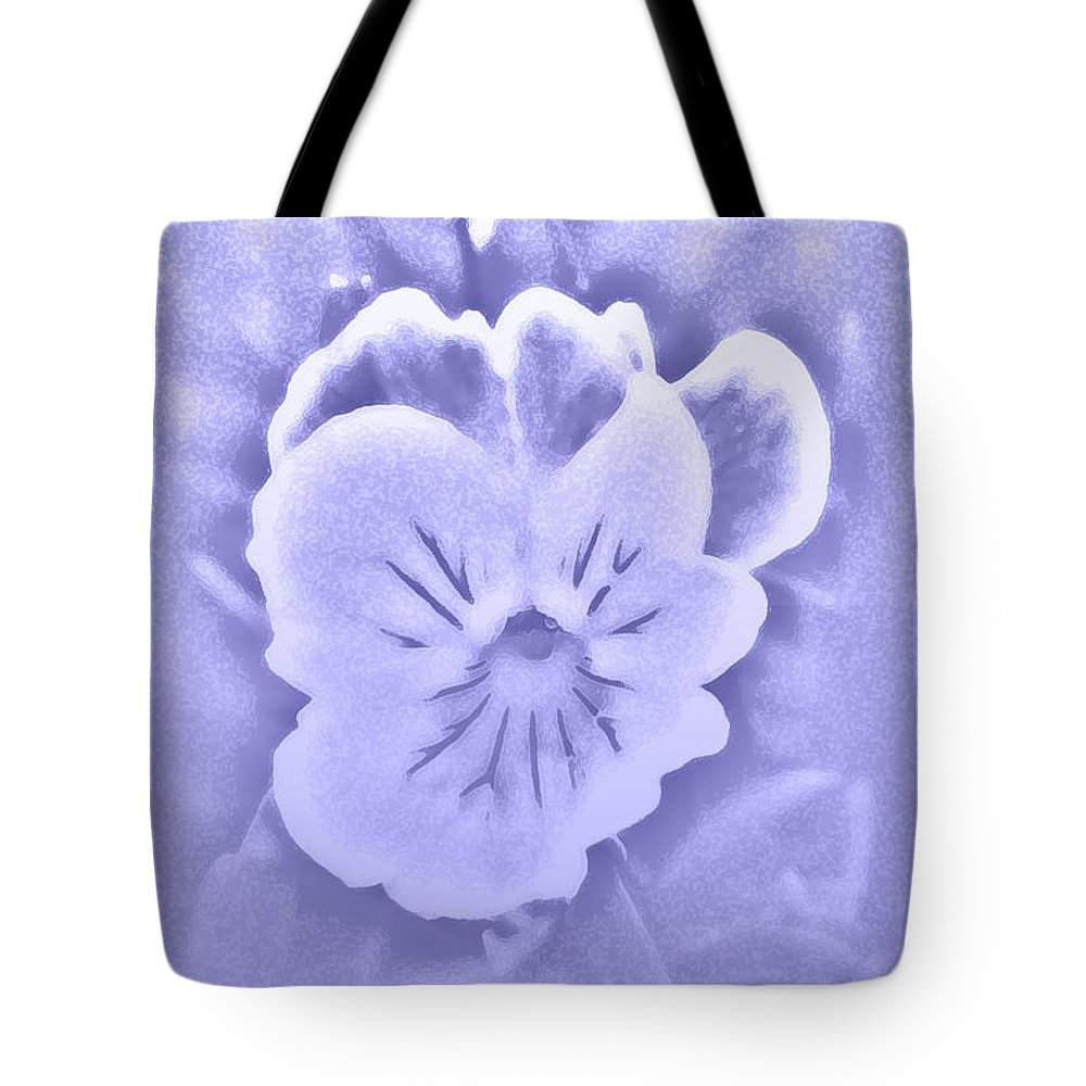 Pansy Tote Bag featuring the photograph Artistic Pansy by Karen Harrison