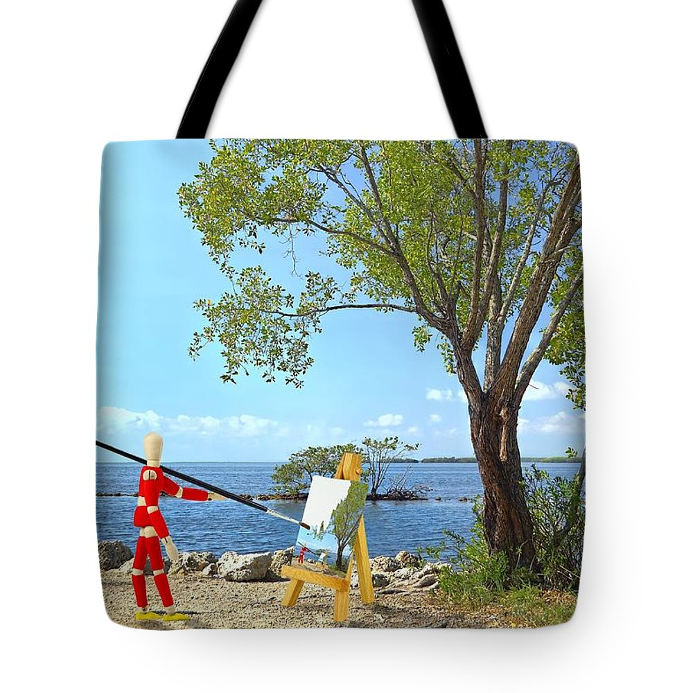 Background Tote Bag featuring the photograph Artist's Art by Rudy Umans