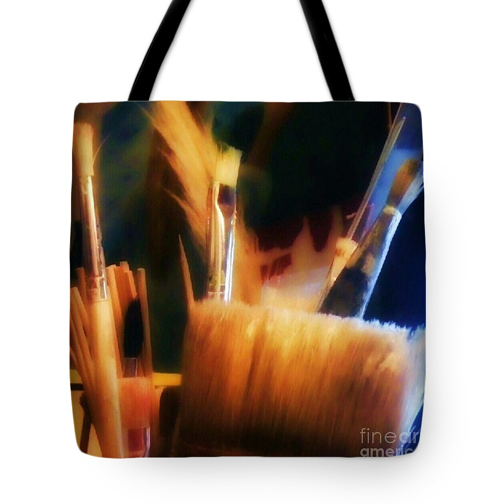 1stangel Tote Bag featuring the photograph Artists Tools by Isabella F Abbie Shores