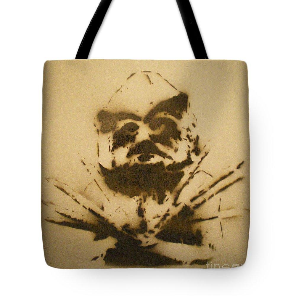 Asaro Mudman Tote Bag featuring the painting Asaro Mudman by Barry Boom