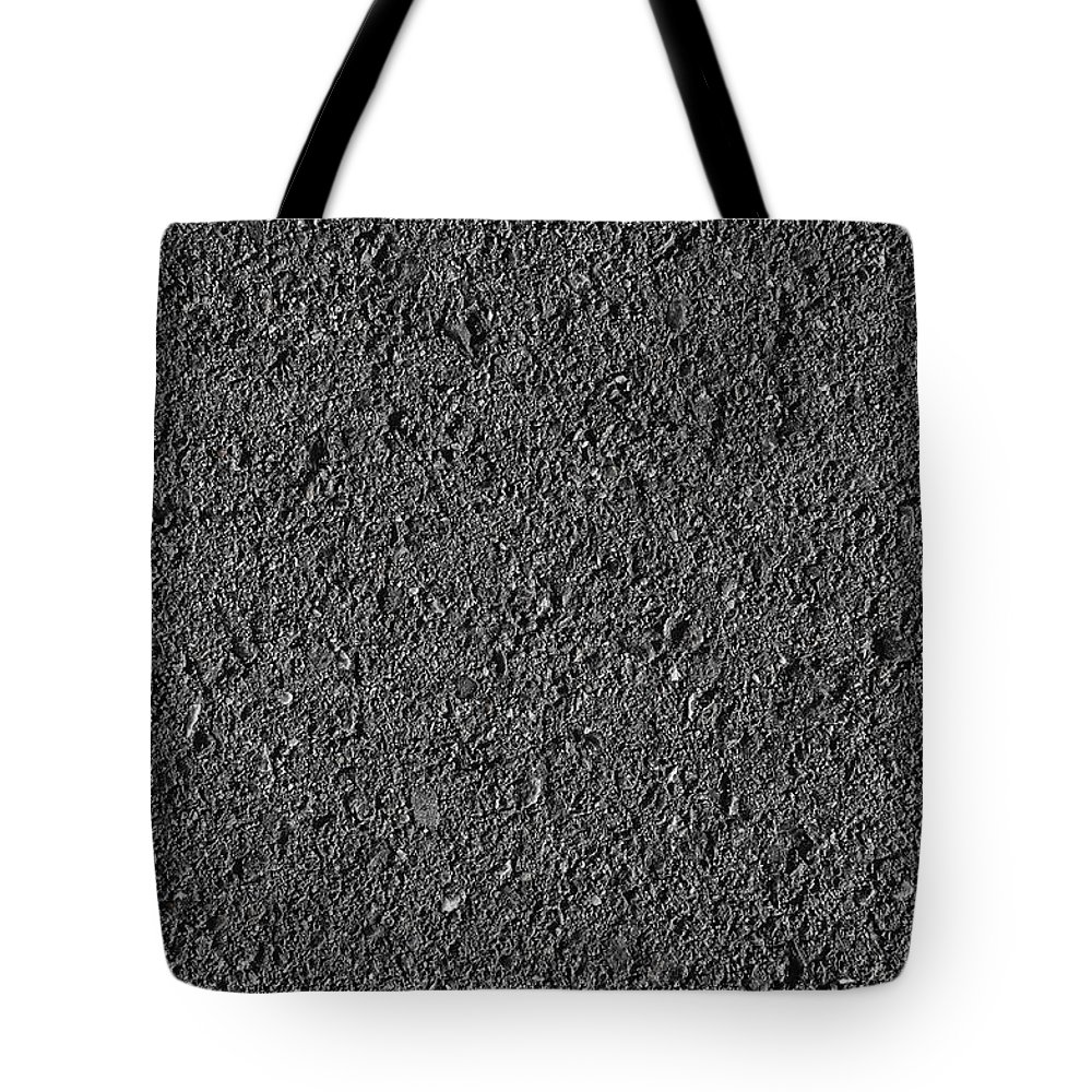 Black Tote Bag featuring the photograph Asphalt Road Background by Brandon Bourdages