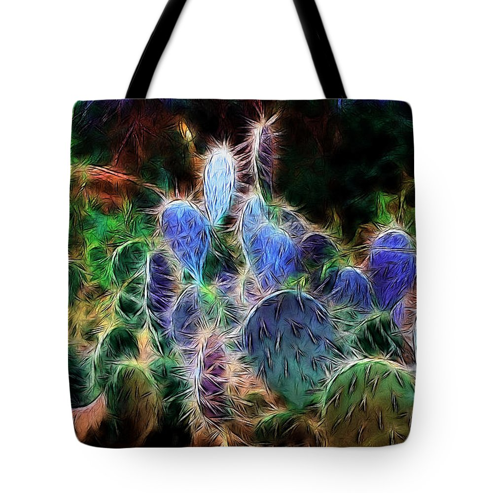 Fractal Tote Bag featuring the photograph At Night The Desert Glows by Ellen Heaverlo
