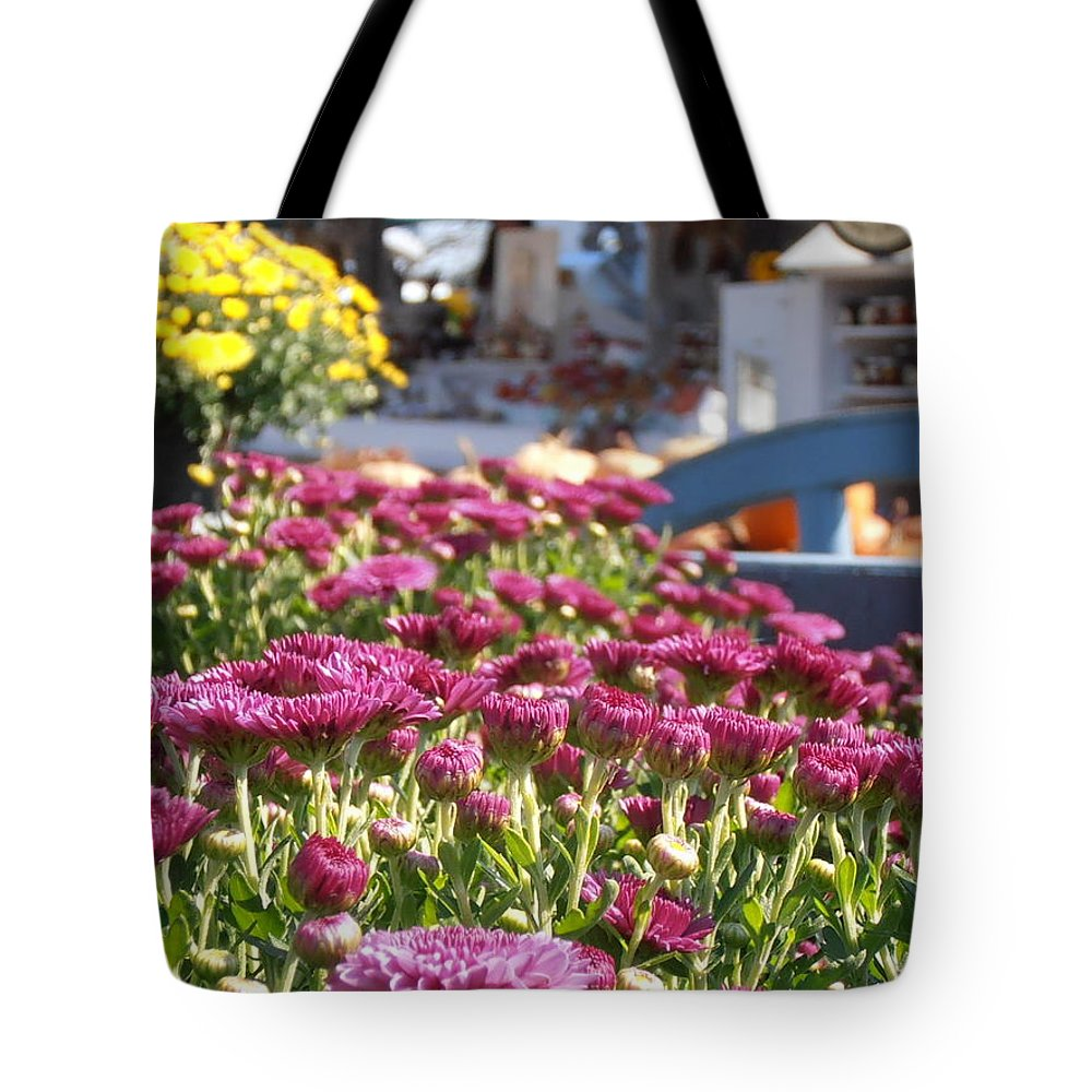 Farm Stand Tote Bag featuring the photograph At The Farm Stand by Kimberly Perry