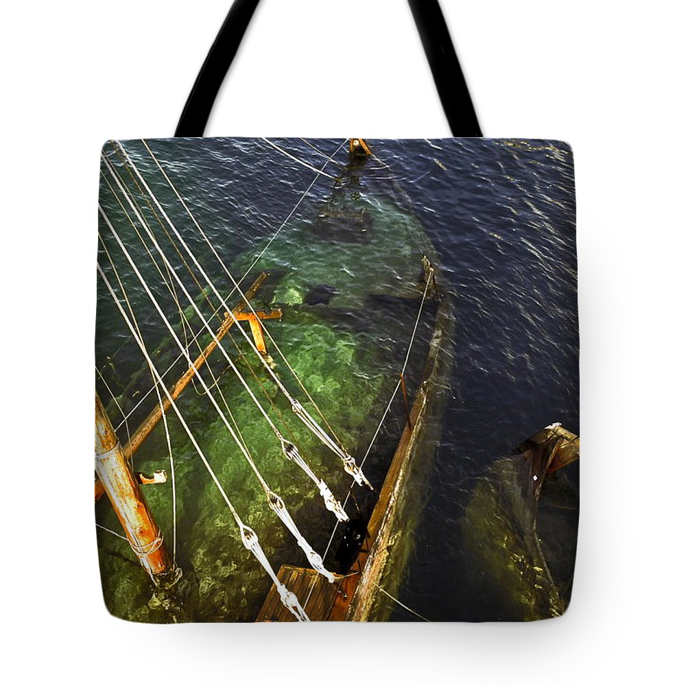 Stern Under Water Tote Bag featuring the photograph Attitude Is The Difference by Sally Weigand