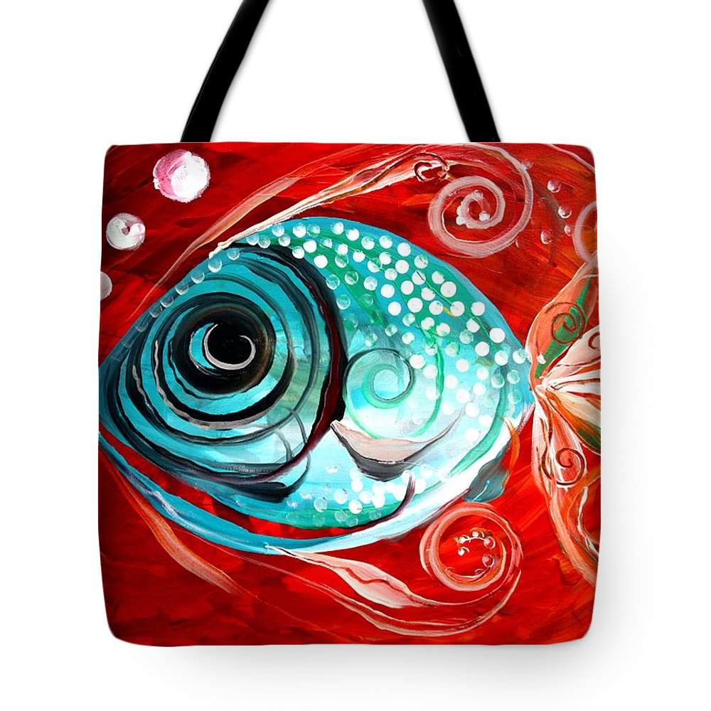 Paintings Tote Bag featuring the painting Attract by J Vincent Scarpace