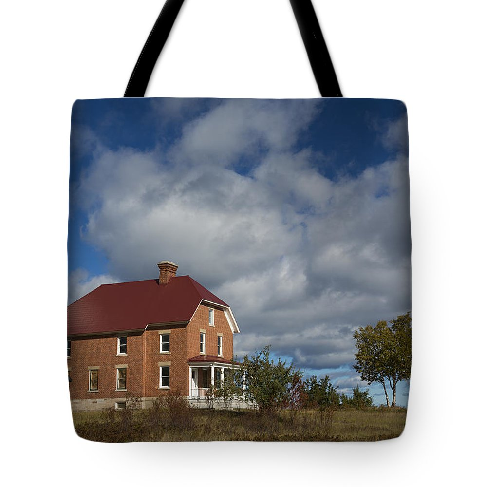 Au Sable Tote Bag featuring the photograph Au Sable Lighthouse 2 by John Brueske
