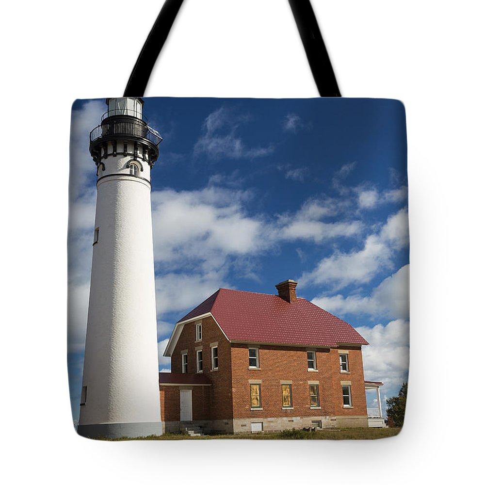 Au Sable Tote Bag featuring the photograph Au Sable Lighthouse 5 by John Brueske