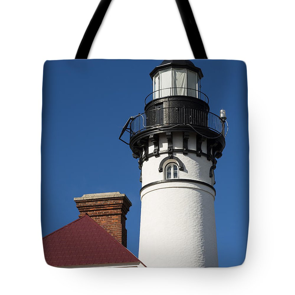 Au Sable Tote Bag featuring the photograph Au Sable Lighthouse 6 by John Brueske