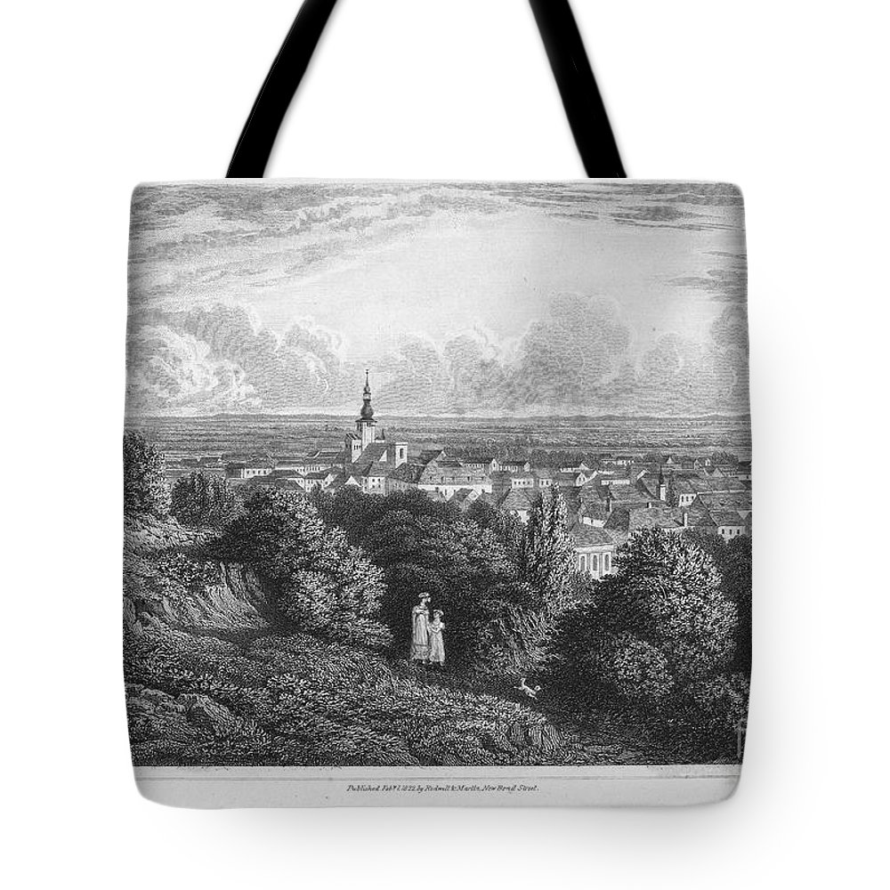 1822 Tote Bag featuring the photograph Austria: Baaden, 1822 by Granger