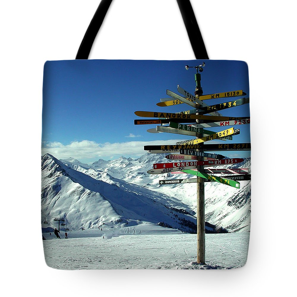Colette Tote Bag featuring the photograph Austria Mountain Road Show by Colette V Hera Guggenheim