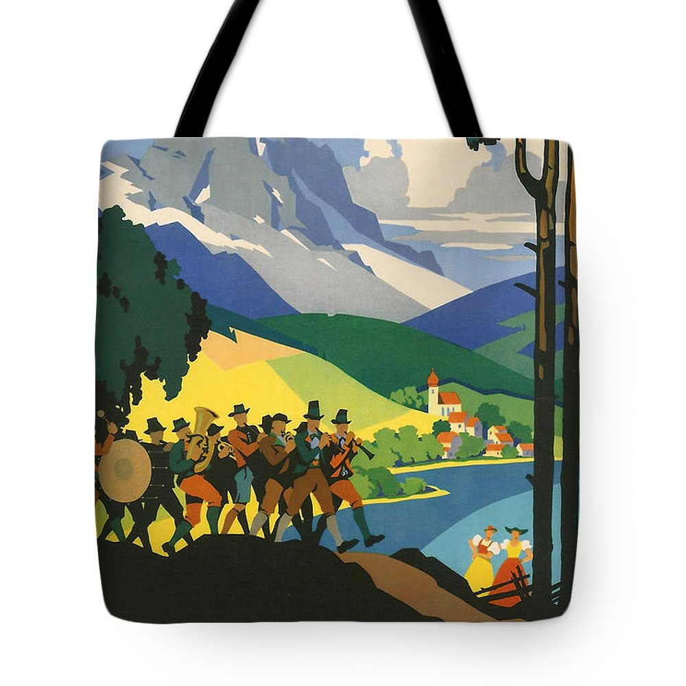 Active Tote Bag featuring the digital art Austrian Alps by Georgia Fowler
