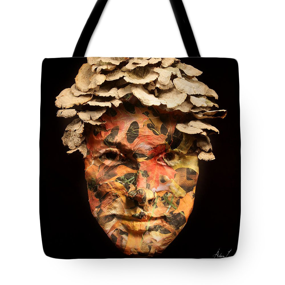 Face Tote Bag featuring the mixed media Autumn by Adam Long