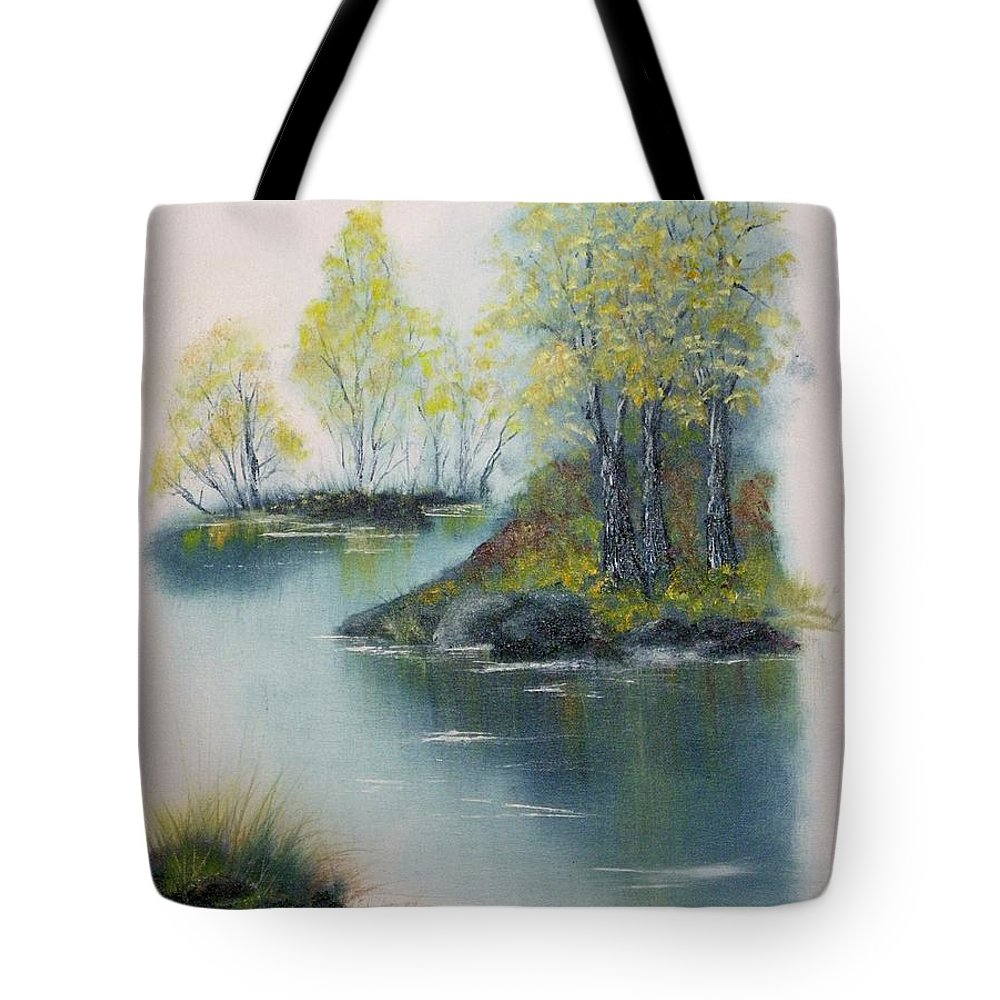 Landscape Tote Bag featuring the painting Autumn Afternoon by Peggy King