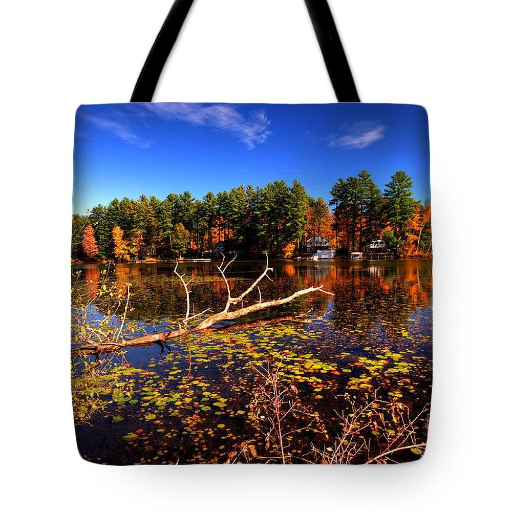 Bomoseen Tote Bag featuring the photograph Autumn At Bomoseen Lake by Rob Hawkins